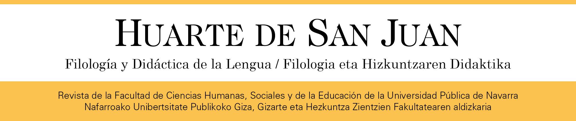Huarte de San Juan. Filología y Didáctica de la Lengua